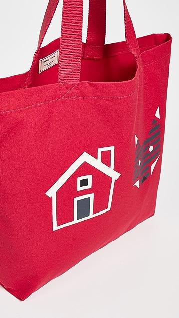 Maison Kitsune Rebus Tote Bag