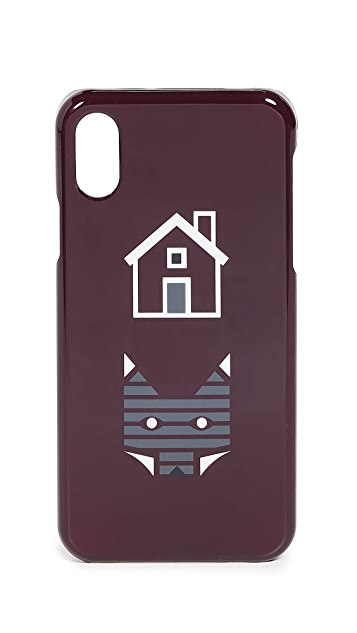 Maison Kitsune Rebus iPhone X Case