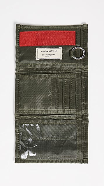Maison Kitsune Velcro Ripstop Wallet