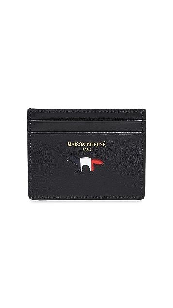 Maison Kitsune Tricolor Card Holder
