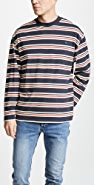Maison Kitsune Long Sleeve Striped T-Shirt