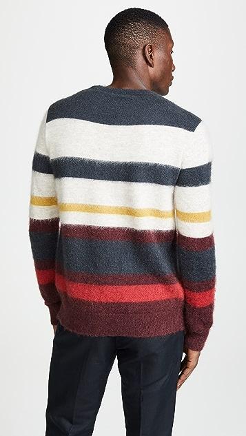 Maison Kitsune Stripes Mohair Pullover