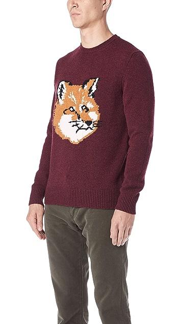 Maison Kitsune Fox Head Pullover