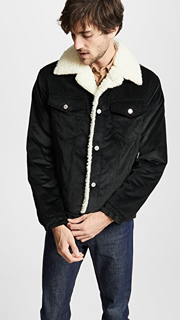 Maison Kitsune Corduroy Trucker Jacket