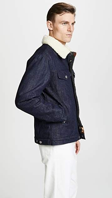 Maison Kitsune Denim Trucker Jacket