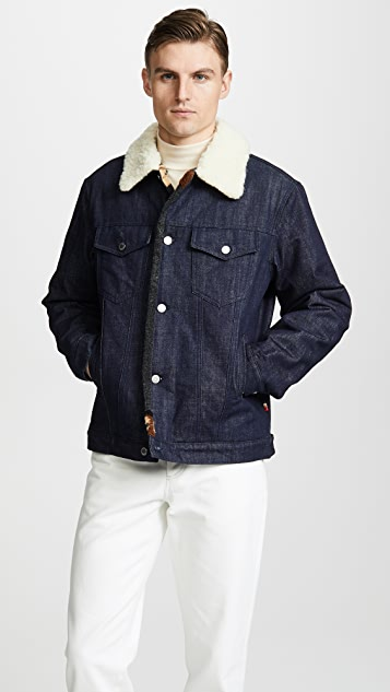 Maison Kitsune Denim Trucker Jacket