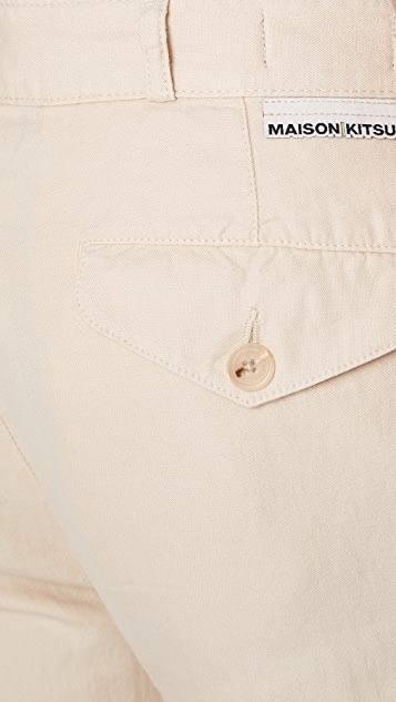 Maison Kitsune Chino Parfait Pants