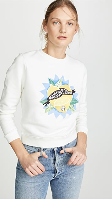 Limone Sweatshirt by Maison Kitsune