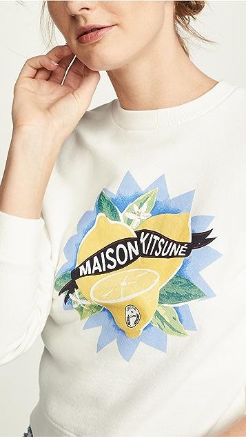 Maison Kitsune Толстовка Limone
