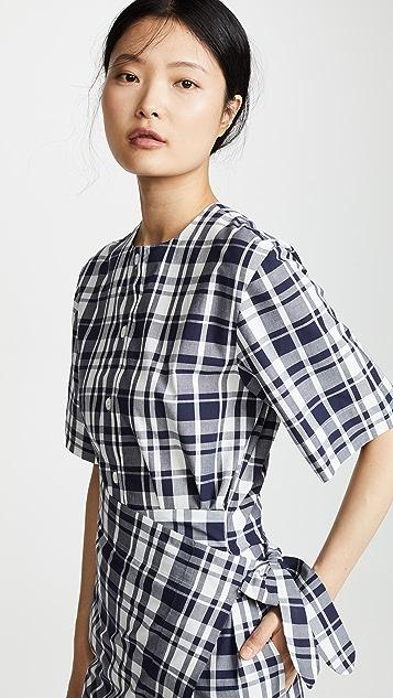 Maison Kitsune Платье-платок Chloe
