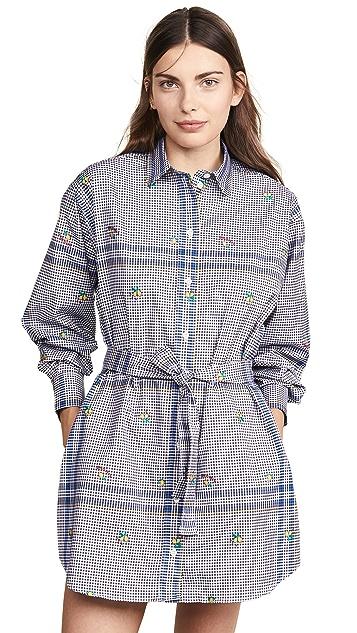 Maison Kitsune Limone Jacquard Gio Shirtdress