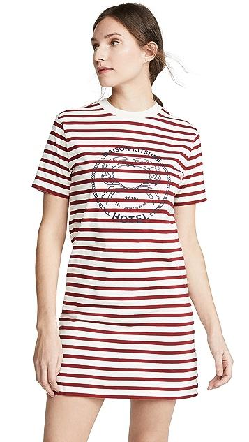 Maison Kitsune Платье-футболка Marin