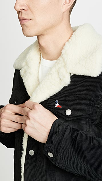 Maison Kitsune Resting Fox Pin