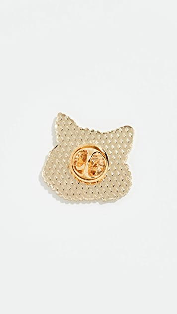 Maison Kitsune Fox Head Pin