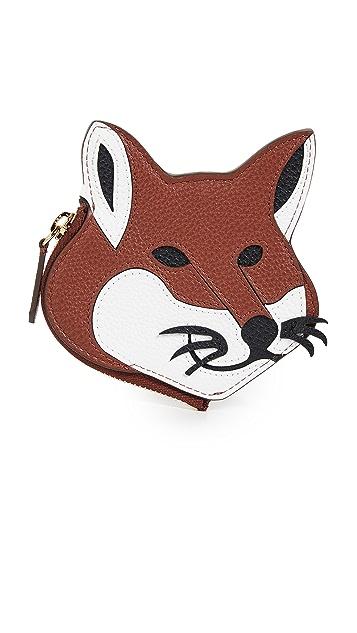 Maison Kitsune Fox Head Coin Purse