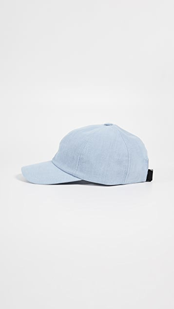 Maison Kitsune Cap 6P Small Fox Head Baseball Cap