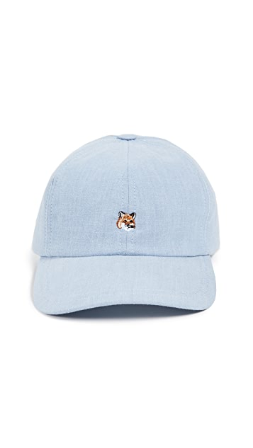 Maison Kitsune Cap 6P Small Fox Head Baseball Cap