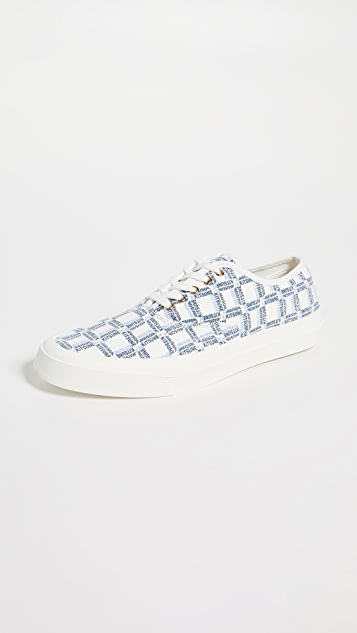Maison Kitsune Allover Rectangle Sneakers