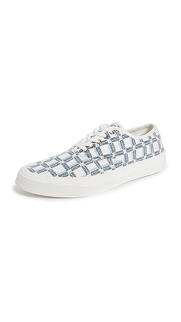 Maison Kitsune Allover Rectangle Sneakers