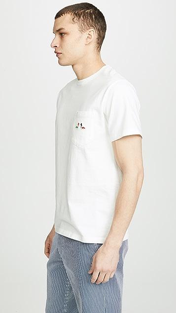 Maison Kitsune Resting Fox Patch T-shirt