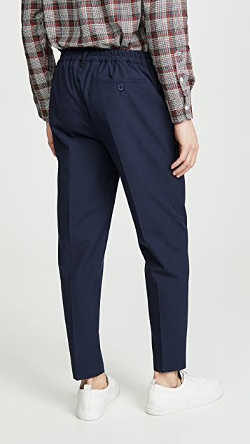 Maison Kitsune Small Check City Fit Pants