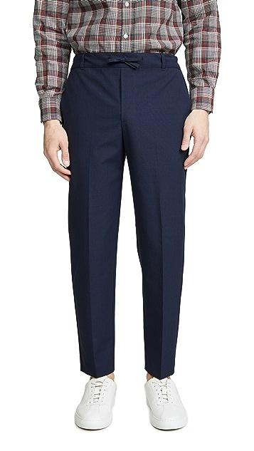 Maison Kitsune Small Check City Fit Pants