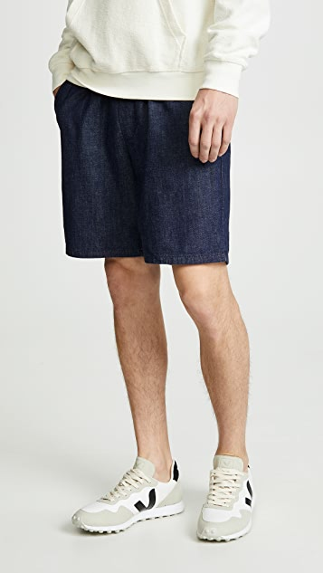 Maison Kitsune Denim Tim Elastic Shorts