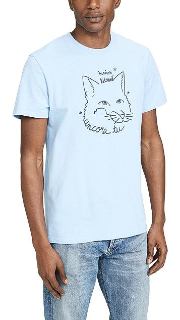 Maison Kitsune Ancora Tu Fox Head T-Shirt