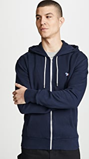 Maison Kitsune Tricolor Fox Patch Zip Hoodie
