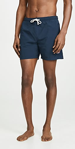 Maison Kitsune - Tricolor Fox Swim Shorts