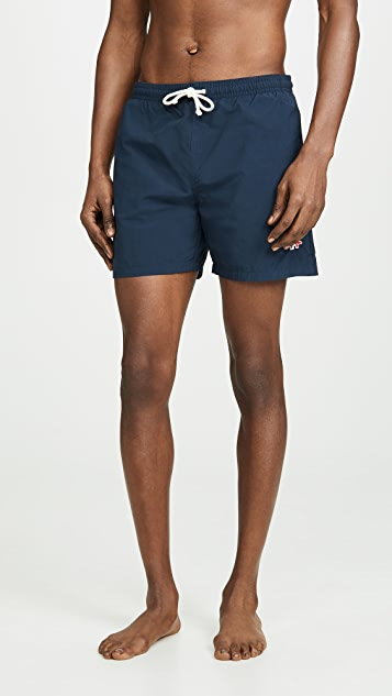 Maison Kitsune Tricolor Fox Swim Shorts