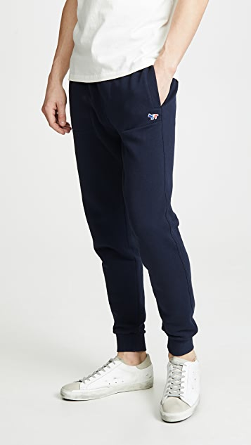 Maison Kitsune Fox Patch Classic Jogger Pants