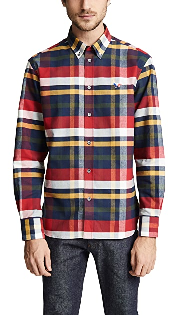 Maison Kitsune Tartan Classic Button Down Shirt