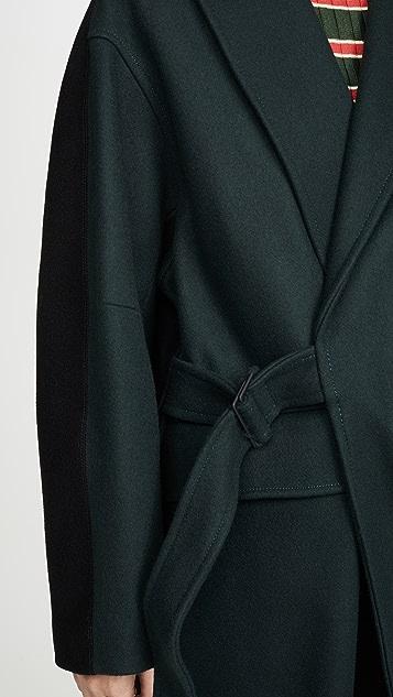 Maison Kitsune Пальто с запахом