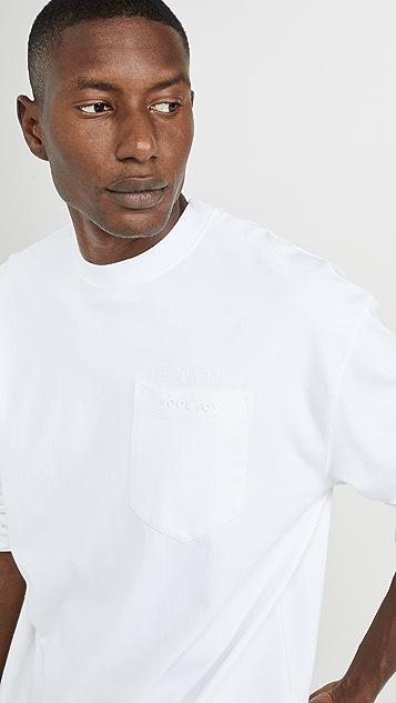 Maison Kitsune Long Sleeve Oversized Tee Shirt