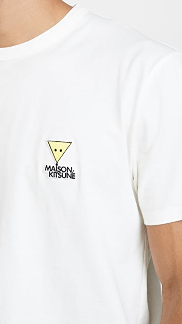 Maison Kitsune Short Sleeve T-Shirt with Smiley Fox