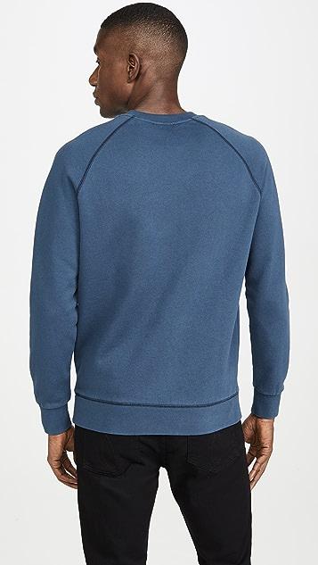 Maison Kitsune Long Sleeve Sweatshirt with Parisien Print