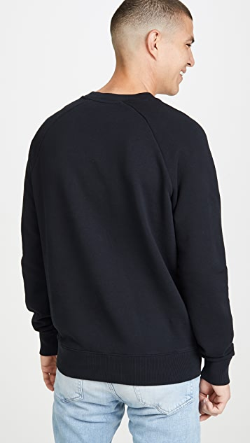 Maison Kitsune Long Sleeve Sweatshirt with Smiley Fox