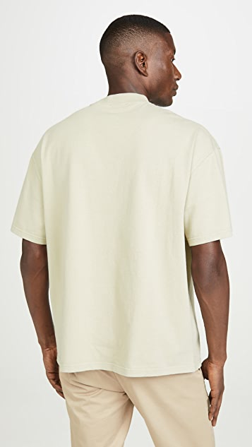 Maison Kitsune Short Sleeve Oversized Pocket Tee Shirt