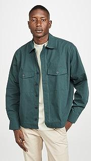 Maison Kitsune Long Sleeve Hidden Placket Shirt