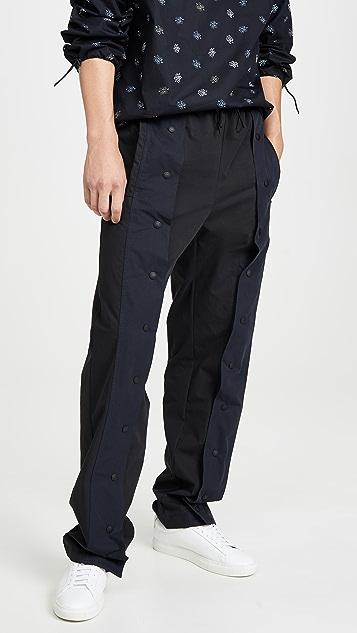 Maison Kitsune Press Snaps Pants