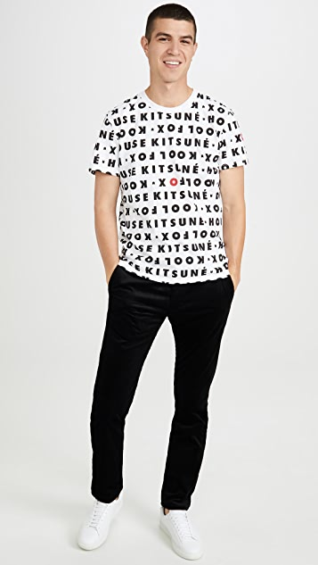 Maison Kitsune Short Sleeve T-Shirt with Kool Fox