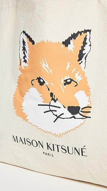 Maison Kitsune Fox Head Tote Bag