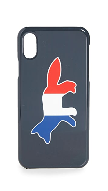 Maison Kitsune Tricolor Fox iPhone X / XS Case