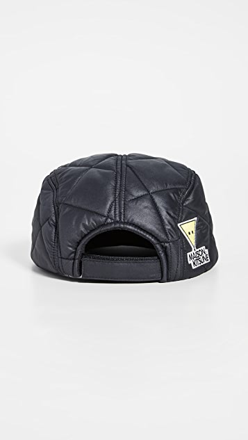 Maison Kitsune Quilted 5 Panel Cap
