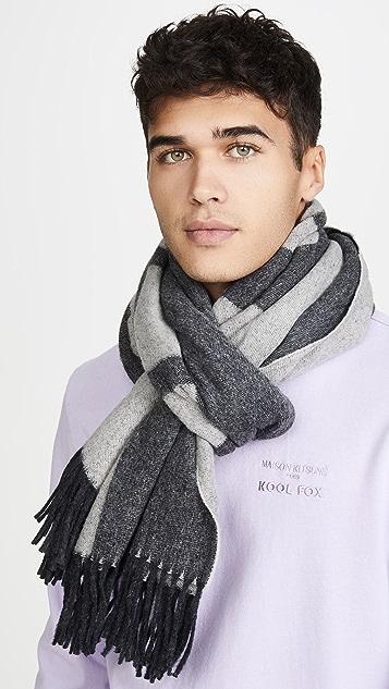Maison Kitsune 'Fox Head' Wool Scarf