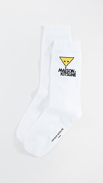 Maison Kitsune Smiley Fox Socks