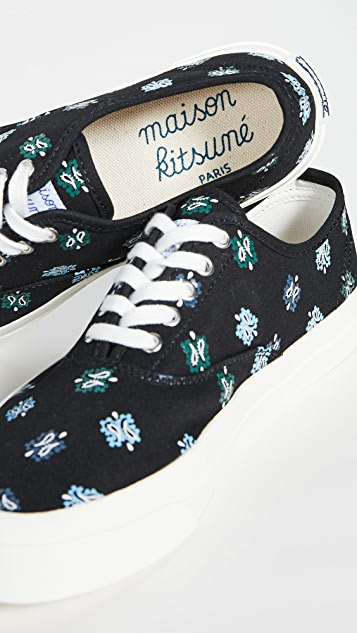 Maison Kitsune Paisley Laced Sneakers