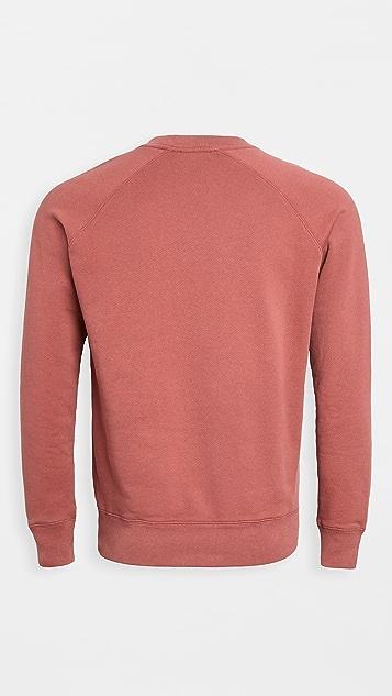 Maison Kitsune Tricolor Fox Patch Crew Neck Sweatshirt