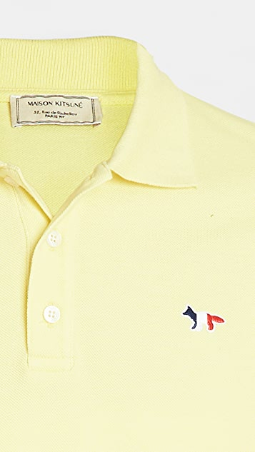 Maison Kitsune Tricolor Fox Patch Polo
